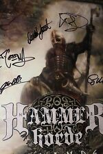 Signed~Hammer Horde~Promo Poster+Glass Framed Viking Metal turisas amon amarth
