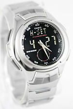 Casio AQ-160WD-1BV Men's Active Dial Watch Stainless Steel Analog Digital New