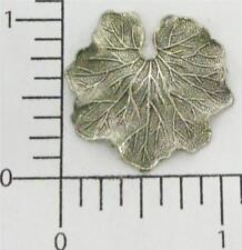33014 - 2 Pc. Medium Water Lily Leaf Finding Silver Oxidized