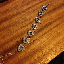 evil eye ball bracelet heart silver creepy cute harajuku