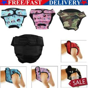 Female Pet Dog Physiological Pants Sanitary Nappy Diaper Shorts Underwear XS-XXL