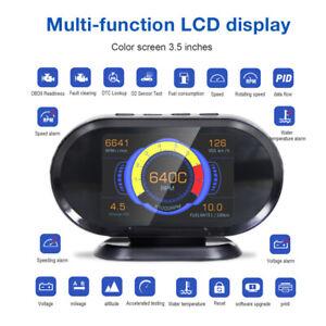 2 In 1 Car Fault Code Reader OBD2 OBDII Scanner 3.5'' Head Up Display Scan Tool