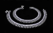 """Wedding Antique 925 Sterling Silver Anklets Foot ankle chain 10.9"""""""