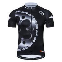 Mens Cycling Jersey Clothing Bicycle Sportswear Short Sleeve Bike Shirt Top XJ08