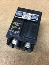 Double 2 Pole 40 Amp Square D Breaker DP-4075 HOM 10ka