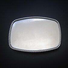 Novelty Silver Blank Belt Buckles Polished Smooth Add Your Own Design Original