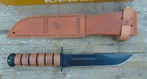 KA-BAR USMC Fighting/Utility full size 1095 HC knife w/sheath, NIB,free shipping