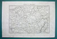 1846 MAP - BELGIUM Luxembourg NE France & West Part of Germany