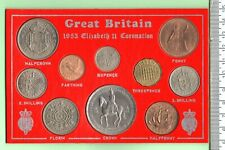 More details for 1953 genuine ten coin coronation uncirculated coin year set