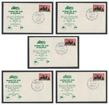 ++ VETERAN CAR CLUB of AUSTRALIA 1970 RALLY SET of COMMEMORATIVE COVERS ++
