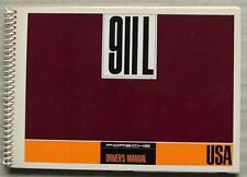 PORSCHE 911L USA Market Car Drivers Manual Handbook 1967 #W337e