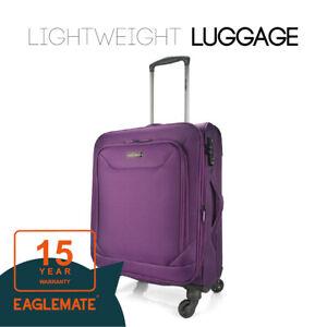 "Eaglemate 20"" Luggage Set Suitcase Carry On Bag Soft Lightweight Luggage Set"