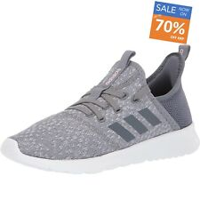 Adidas Women's Cloudfoam Pure Running Shoes Grey Trainers Slim Fit Size 5 UK