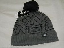 BNWT -  O'NEILL Spiral Bobble Beanie Hat - Grey