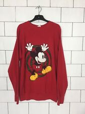 Urban Vintage Retro USA brillante audaz Disney Mickey Mouse Suéter Overhead #6