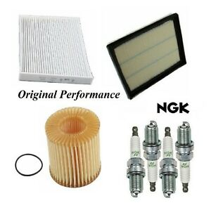 Tune Up Kit Filters Spark Plugs For TOYOTA PRIUS V L4 1.8L 2012-2017