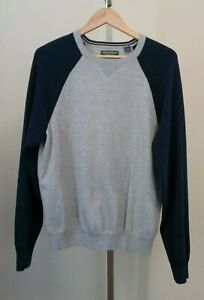 John Bartlett Consensus Mens Gray Blue Long Sleeve Sweater Size Large