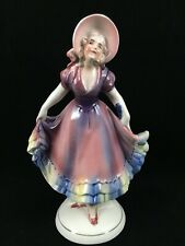 Antique Hertwig / Katzhutte Germany Lady Figurine Porcelain