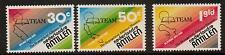 NETHERLANDS ANTILLES SG744/6 1981 50th ANNIV OF EVANGELICAL ALLIANCE MISSION MNH