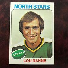 1975-76 Topps Set LOU NANNE #143 MINNESOTA NORTH STARS - NR-MINT *HIGH GRADE*