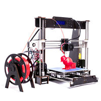 CTC A8 3D Printer Prusa i3 DIY Kit, Wood Frame LCD Screen Included Filament