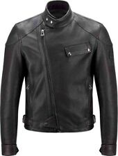 Belstaff Scott Blouson Black Leather Pure Motorcycle Jacket Large 50 RRP £995