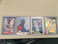 New 4 Different BARRY BONDS Baseball Cards 2 Giants 2 Pirates