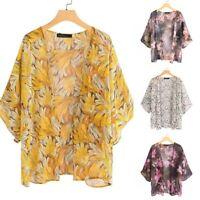 ZANZEA 8-24 Womens Printed Floral Coat Jacket Kimono Cardigan Tunic Tops Blouse