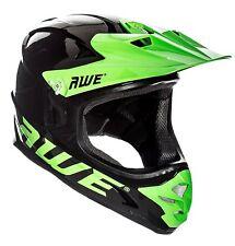 AWE® AWEBlastTM BMX/Downhill/Full Face/Enduro Helmet Black Green Large 58-60cm