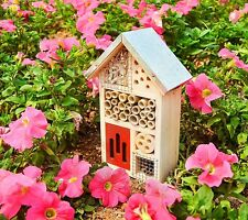 Wooden Bee House Encourage Mason Bees to Stay Nest Gardens Outdoor Bees W ood