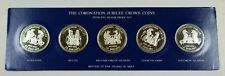 1978 Coronation Jubilee Crown Coin Sterling Silver 5 Coin Proof Set-Sealed w/Box