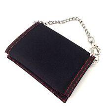 COMME DES FUCKDOWN Tri-fold Wallet Flip Chain Punk Rebel Cool Coin Multi-pocket