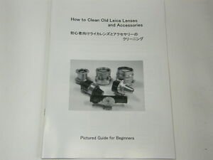 How to Clean Old Leica Lenses and Accessories, Manual for Elmar, summaron