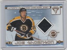 01-02 2001-02 TITANIUM JOE THORNTON BILL GUERIN DUAL JERSEY PACIFIC 74 BRUINS