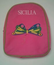 Pottery Barn Kids Pink Eric Carle Butterfly Preschool Backpack with name SICILIA