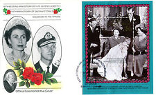 St VINCENT BEQUIA 1987 QUEEN 40th WEDDING ANNIVERSARY OFFICIAL FIRST DAY COVER