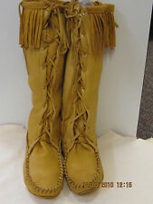 leather deerskin boot moccasins mountain  men size 11 handmade
