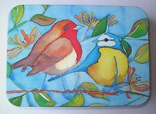 GOLF GIFT - ROBIN & BLUE TIT BIRD TIN BY EMMA BALL