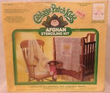 Vintage 1984 Cabbage Patch Kids Afghan Crochet Stenciling Kit New Sealed