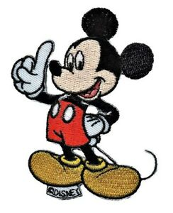 MICKEY MOUSE DISNEY Official Licenced Iron on Applique Motif with Stitched Edges