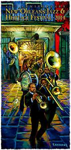 2014 New Orleans Jazz Fest Festival Poster - Terrance Osborne -Preservation Hall