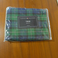 NEW Tommy Hilfiger Sinclair Twin Size Bedskirt, Blue And Green Plaid