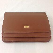 Buxton Tan Leather Wallet Purse Clutch Card Holder Bag Handbag