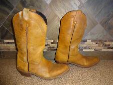 Mens ACME #AC424 Sz 7.5D Medium Brown Leather Cowboy Boots