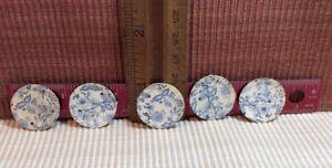 dollhouse miniatures 1:12 Set Of 5 Fancy Paper Plates