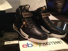 Versace Zipped High Top Sneakers Brand New Size 10.5 Authentic With Receipt RARE