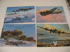 Lot of 4 B-17 Flying Fortress Robert Taylor Aviation Art Advertising Brochures