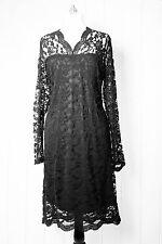 Zizzi vestito vestito di pizzo tg. S/M abito da cocktail pizzo nero NUOVO