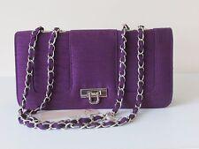NEW Jacques Vert  Clutch/Shoulder Bag ~ Byzantium Purple ~ BNWT @  £65
