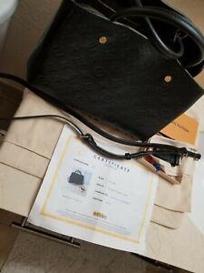 Louis Vuitton Black Monogram Empreinte Leather Bag Authentic Louis Vuitton